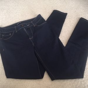 Super Dark Wash Denim Skinny Jeans - Never Worn